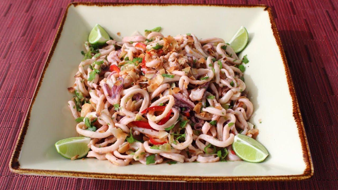 Spicy Coconut Calamari Salad - Asian-Style Coconut & Squid Salad ...