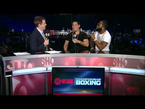 Danny Garcia and Adrien Broner at Hopkins vs. Sumenov