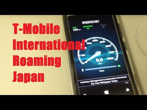 T-Mobile International Roaming in Japan! (Testing Data Speed/Web Browsing)