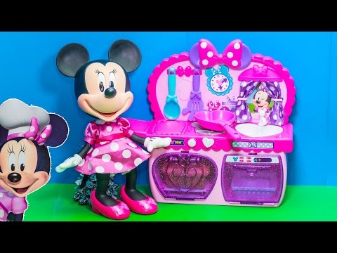 MINNIE MOUSE Disney Junior Bowtastic Kitchen Minnie Mouse Video Toy Review