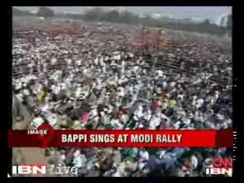 Bappi Lahiri sings at Narendra Modi's rally in Kolkata (You don't want to miss this!)
