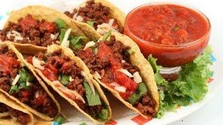 Tacos mexicanos rellenos de pollo