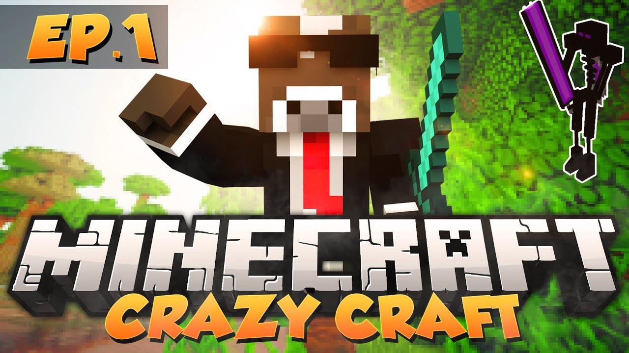Minecraft quot crazy craft begins quot crazy craft modded survival ep 1
