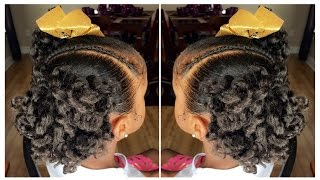 Curly Ponytails Tutorial | Kids Natural Hairstyle | IAMAWOG