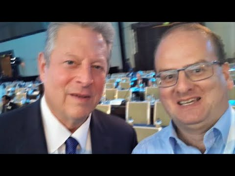 Al Gore speaking in Abu Dhabi on climate action