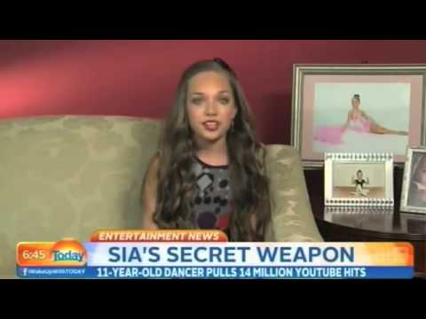 Maddie Ziegler Interview at Today Show - About Being In Sia's Music Video