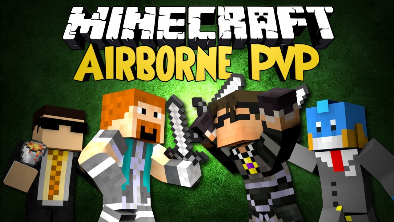 Minecraft mini game airborne pvp with skydoesminecraft