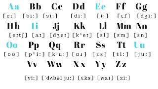 English Alphabet PRONUNCIATION   Pronounce each letter correctly!!!!