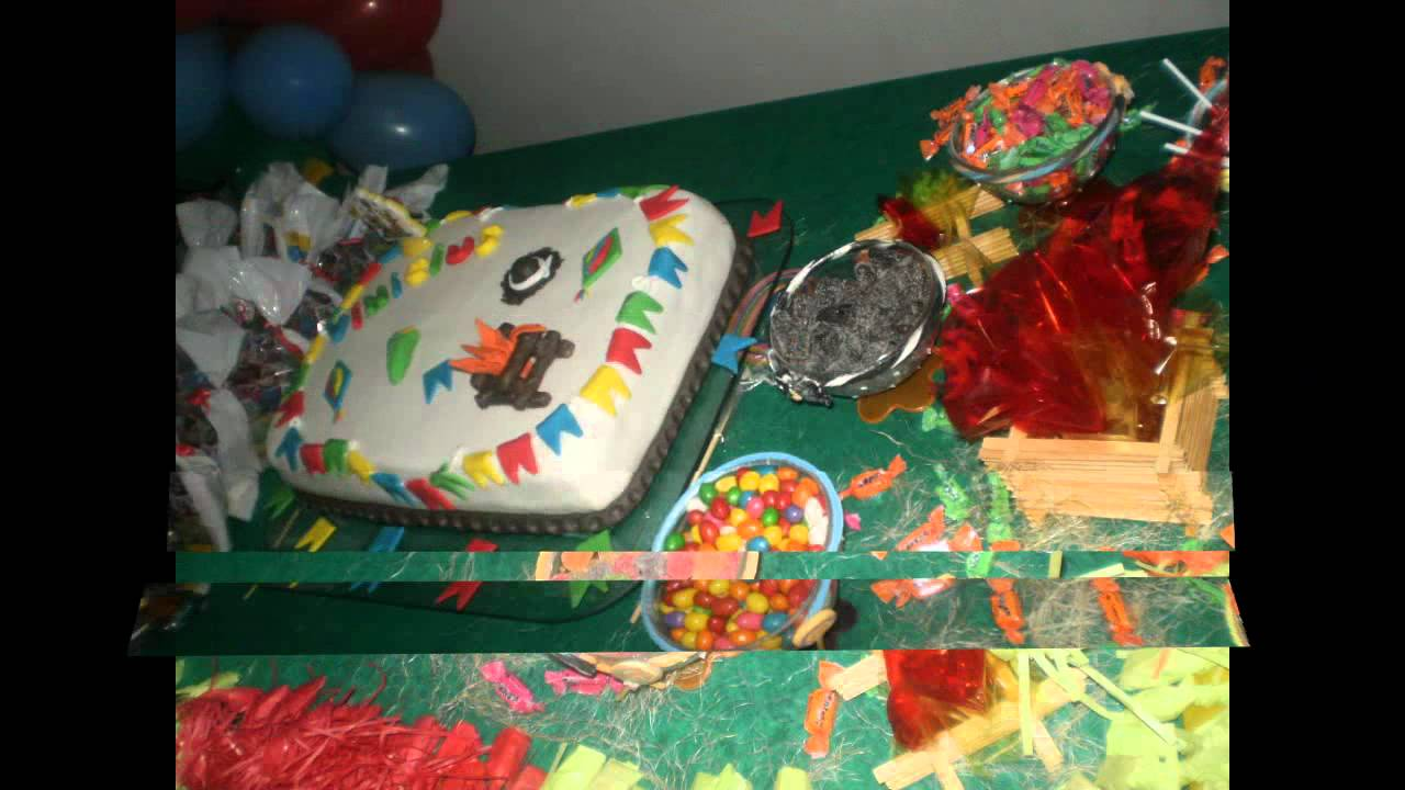 Decoraç u00e3o de aniversário festa junina YouTube