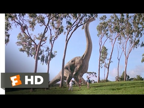 Meet the Brachiosaur Scene - Jurassic Park Movie (1993) - HD