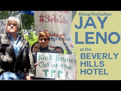 Jay Leno #StopTheSultan of Brunei Beverly Hills Hotel
