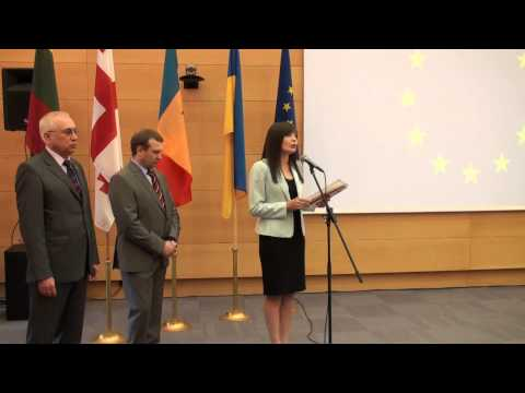 Celebrating the signing of Georgia-EU Association Agreement in Vilnius, 27 June 2014