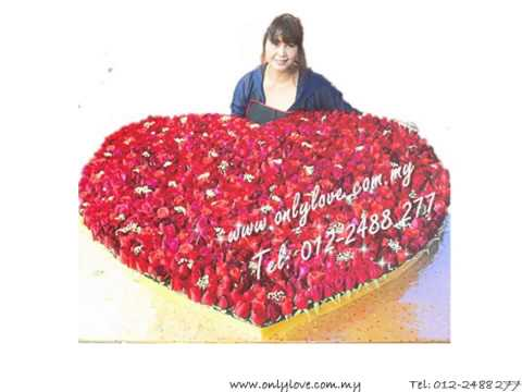 999 Stalks Roses for Valentine's Day Gift - Only Love Florist Delivery Flower Nationwide in Malaysia