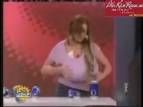 Dùng ngực đập lon bia 1
