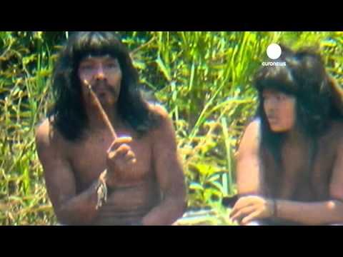 Peru'da ilkel bir kabile görüntülendi