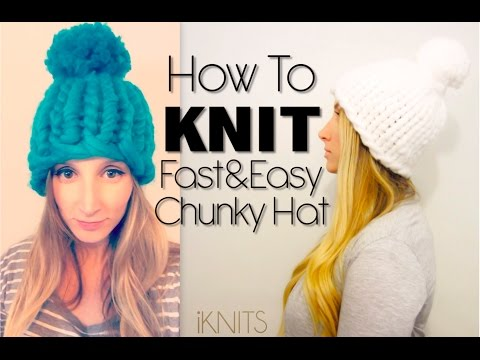 FAST & EASY KNIT HAT