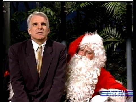 Steve Martin is Dirty Rotten Scoundrel to Santa on Johnny Carson's Tonight Show 1988