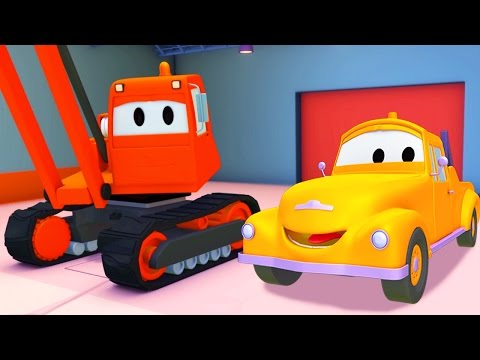 Xe Cần Cẩu Phá Công Trình Và Tom - Chiếc xe tải kéo | Phim hoạt hình 🚚