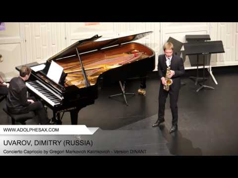 Dinant 2014 - UVAROV Dmitry (Concierto Capriccio by Gregori Markovich Kalinkovich - Version DINANT)