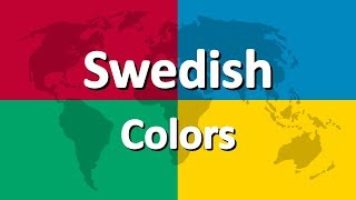 Learn Swedish part 3 | Colors