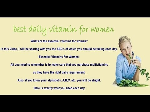 Best daily Vitamin for Women 2014