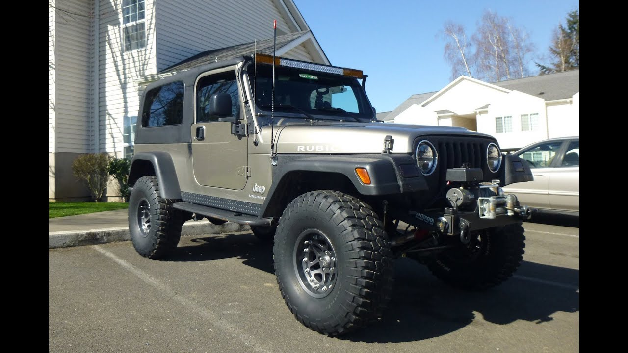 Jeep Wrangler Unlimited Lifted For Sale Jeep Wrangler Rubicon Unlimited LJ rockrails - YouTube