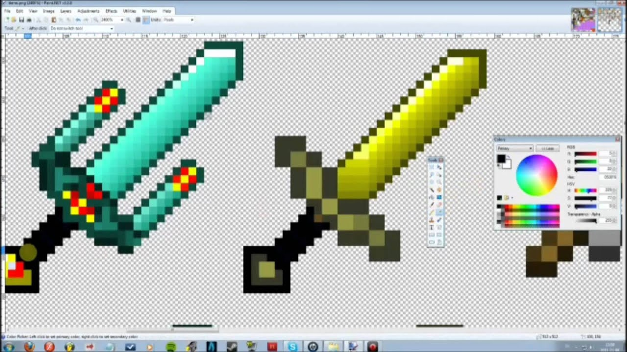 how to draw a diamond sword