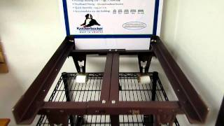 metal bed frame extra heavy - youtube
