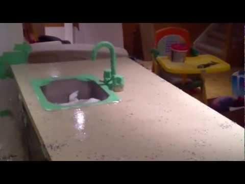 Rustoleum Countertop Paint Experiment - Part 3 - YouTube