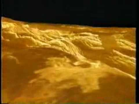 Our Solar System - Planet Venus surface flyover