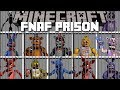 Minecraft FIVE NIGHTS AT FREDDY S PRISON MOD FIGHT OFF EVIL FNAF ANIMATRONICS Minecraft