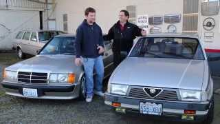 Alfa Romeo Milano 75 vs. Mercedes 190E 2.3 16: Exterior and Interior Design Comparison