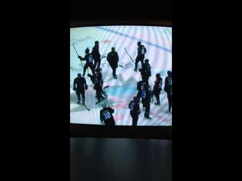 Winnipeg Jets vs San Jose Sharks 1/23/2014 win hockey game
