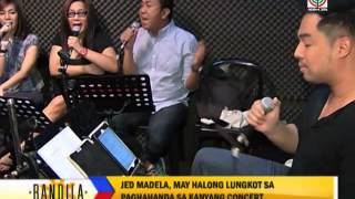 Jed Madela gets ready to sing in 3 celebrity weddings