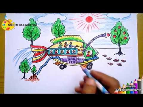 Vẽ Ô tô mơ ước - Phần 1/How to draw Dream Car