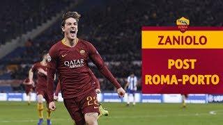 DOPPIETTA DI NICOLÒ ZANIOLO!   L'intervista dopo Roma-Porto di Champions League