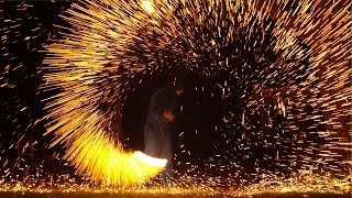 Flaming Wire Wool In 4K Slow Mo - The Slow Mo Guys