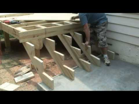 How to build deck stairs decks com youtube