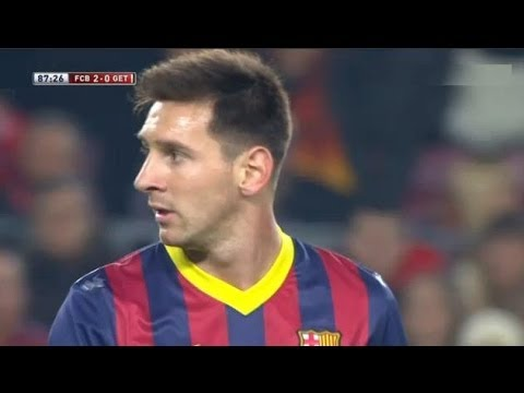 Barcelona  vs Getafe (4-0) All Goals & Highlights 08.01.2014 Messi is back!