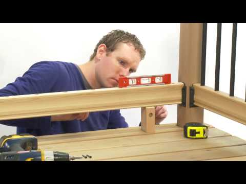 How to Install a Rail Simple Traditional Deck Railing Kit