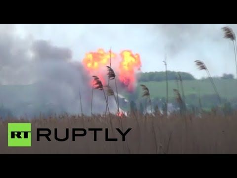 Slavyansk firefight video: Gas pipe explodes amidst fierce fighting