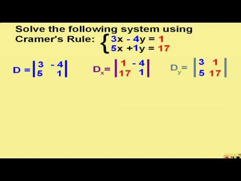 cramer s rule a method for solving º10 216 chapter 4 matrices and determinants using cramer's rule you  can use determinants to solve a system of linear equations the method, called.