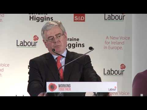 The Tanaiste Eamon Gilmore speaking at Lorraine Higgins selection convention