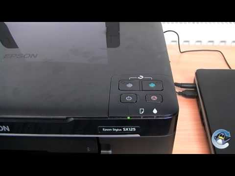 How to do Head Cleaning on Epson Stylus SX125
