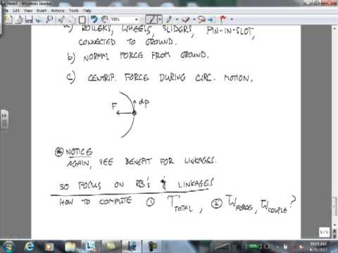 Dynamics Lecture 16 Energy Methods for Linkages