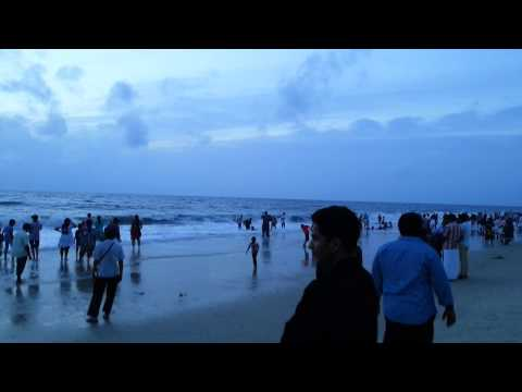 Alappuzha Beach on weekend