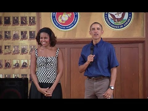 President Obama Speaks to Troops at Marine Corps Base Hawaii