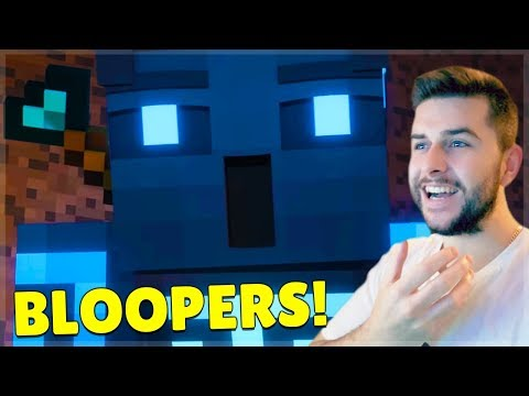 REACTING TO FUNNY SONGS OF WAR BLOOPERS MOMENTS! Minecraft Animations!