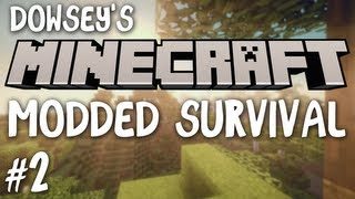 Dowsey's Minecraft Modded Survival :: S2E2 :: Intense Mining!