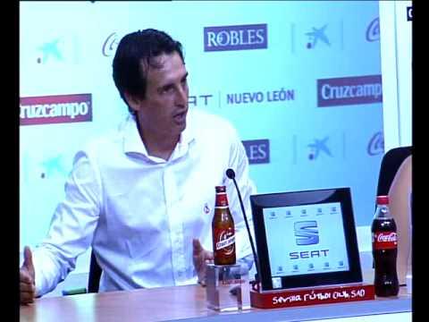 Rueda prensa Unai Emery. 22/08/13. Sevilla FC